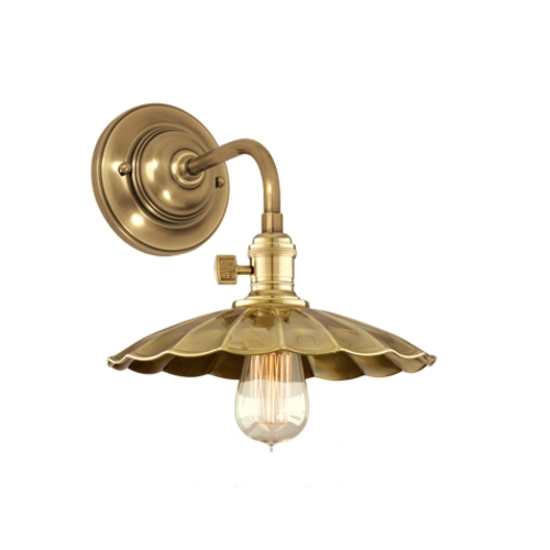 Hudson Valley Lighting Sconce Wall Light in Aged Brass Finish 8000-AGB-MS3