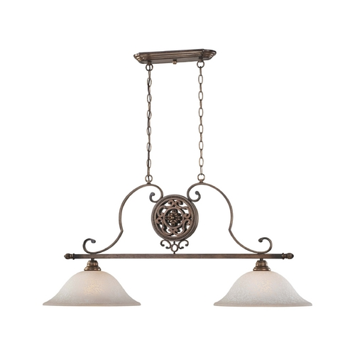 Minka Lighting Island Light with Beige / Cream Glass in Regents Patina Finish 4312-299