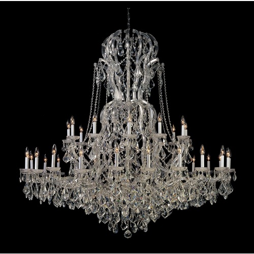 Crystorama Lighting Crystal Chandelier in Polished Chrome Finish 4460-CH-CL-S
