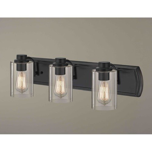 Design Classics Lighting Industrial 3-Light Bath Wall Light in Bronze 1203-36 GL1040C