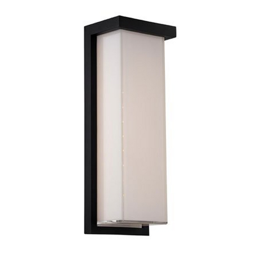 Modern led outdoor wall light in black finish ws w1414 bk destination lighting for Contemporary exterior wall lights
