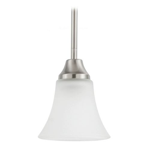 Sea Gull Lighting Mini-Pendant Light with White Glass 61806-962