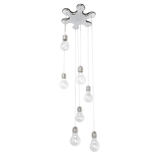 ET2 Lighting Edison Polished Chrome Multi-Light Pendant with Globe Shade E22697-18PC