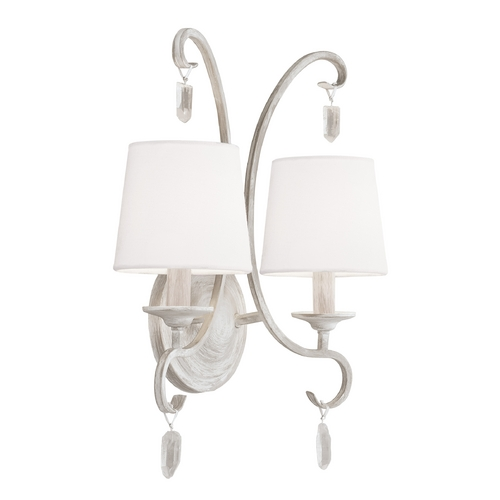 Feiss Lighting Feiss Lighting Caprice Chalk Washed Sconce WB1721CHKW