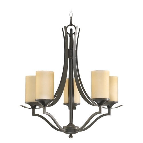 Quorum Lighting Quorum Lighting Atwood Oiled Bronze Chandelier 6096-5-86
