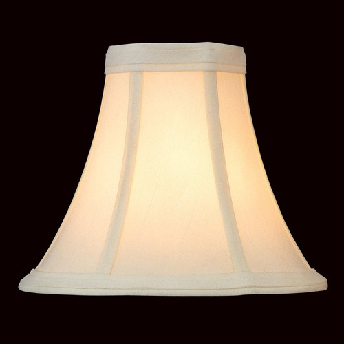 Lite Source Lighting Eggshell Bell Lamp Shade with Clip-On Assembly CH504-6/2PK