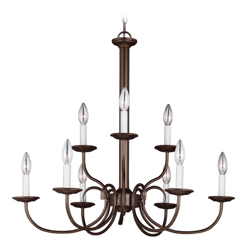 Sea Gull Lighting Sea Gull Lighting Holman Bell Metal Bronze Chandelier 32810-827