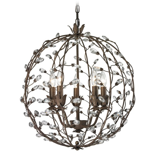 Elk Lighting Elk Lighting Sagemore Bronze Rust Pendant Light 18145/5