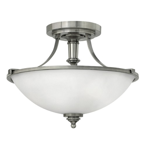 Hinkley Lighting Hinkley Lighting Truman Antique Nickel LED Semi-Flushmount Light 4021AN-LED