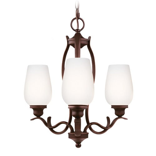 Feiss Lighting Feiss Lighting Standish Oil Rubbed Bronze with Highlights Mini-Chandelier F3001/3ORBH