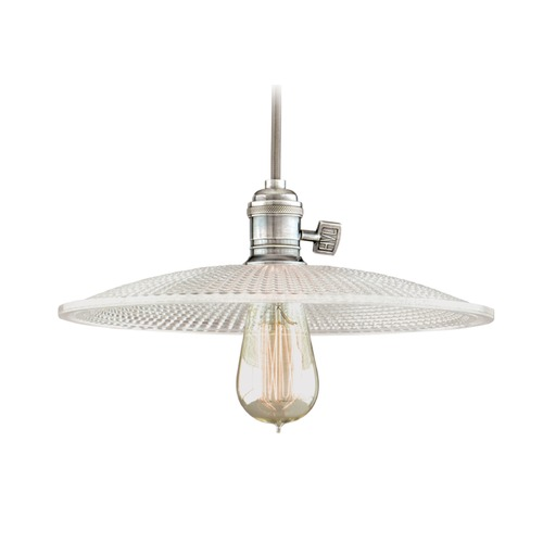Hudson Valley Lighting Hudson Valley Lighting Heirloom Historic Nickel Pendant Light with Bowl / Dome Shade 8002-HN-GM4