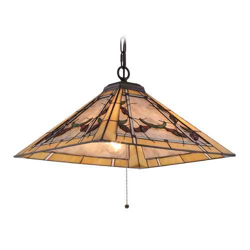 Quoizel Lighting Quoizel Lighting Monteclaire Western Bronze Pendant Light with Square Shade TFMC1818WT