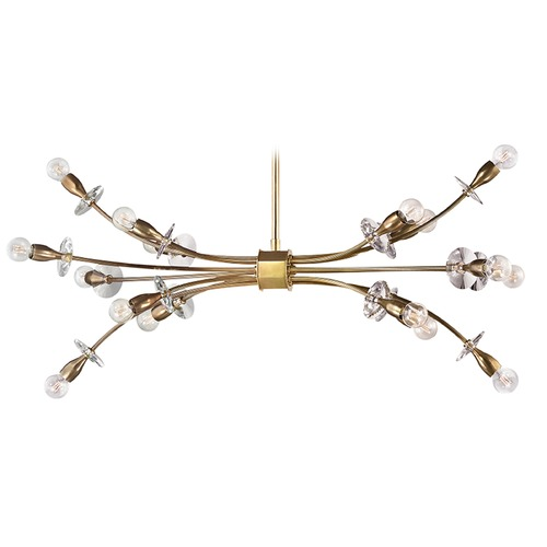 Hudson Valley Lighting Hudson Valley Lighting Alexandria Aged Brass Chandelier 2716-AGB