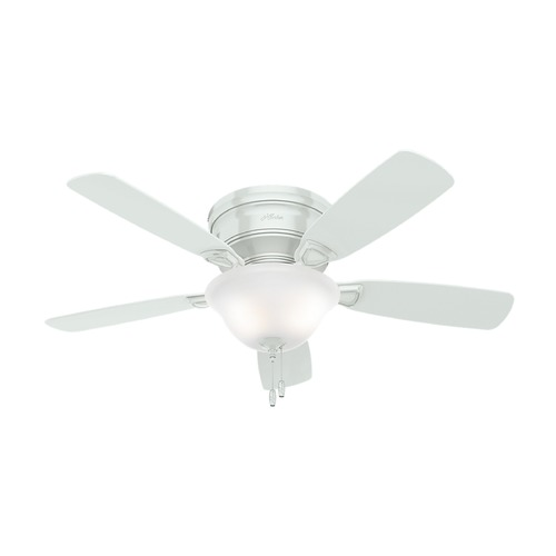 Hunter Fan Company 48-Inch Hunter Fan Low Profile Ceiling Fan with Light - White Finish 52062