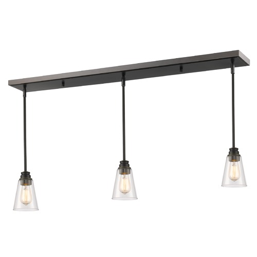 Z-Lite Z-Lite Annora Olde Bronze Multi-Light Pendant with Conical Shade 428MP-3OB