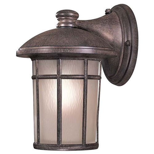 Minka Lavery Outdoor Wall Light with White Glass in Vintage Rust Finish 8252-61-PL