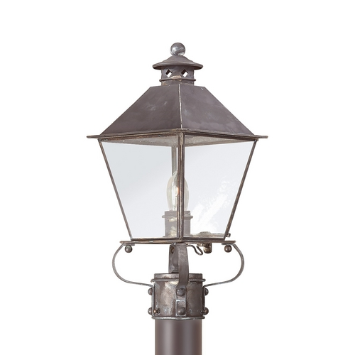 Troy Lighting Post Light with Clear Glass in Natural Rust Finish PCD9132NR