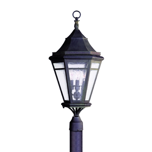 Troy Lighting Post Light with Clear Glass in Natural Rust Finish P1274NR