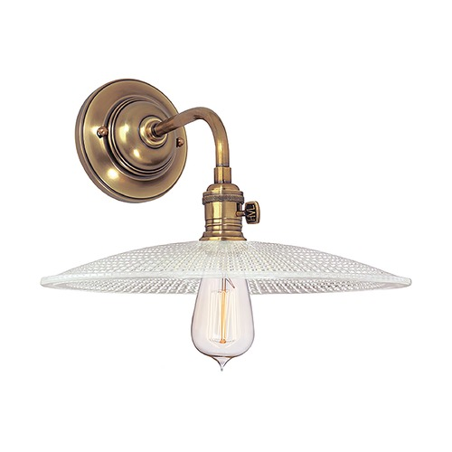 Hudson Valley Lighting Sconce Wall Light with Clear Glass in Aged Brass Finish 8000-AGB-GS4