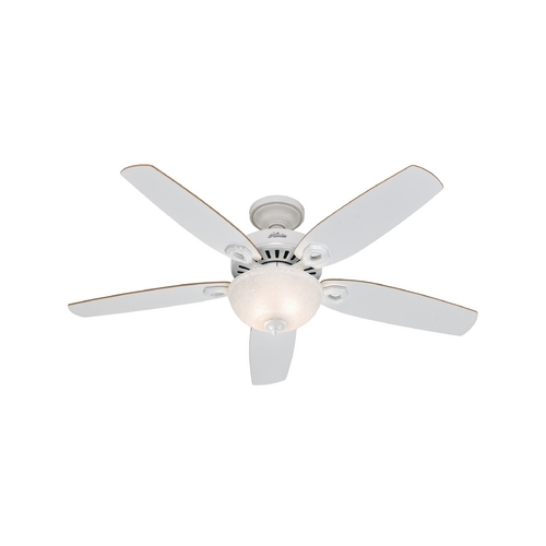 Hunter Fan Company Hunter Fan Company Builder Deluxe White Ceiling Fan with Light 53089
