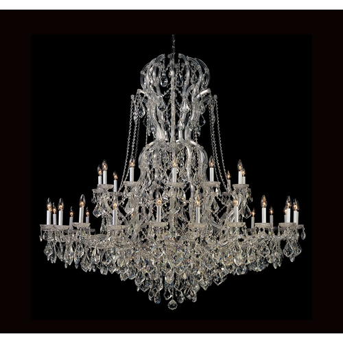 Crystorama Lighting Crystal Chandelier in Polished Chrome Finish 4460-CH-CL-SAQ