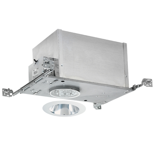 Juno Lighting Group 4-inch Low-Voltage Recessed Lighting Kit with Clear Trim IC44N/442C-WH