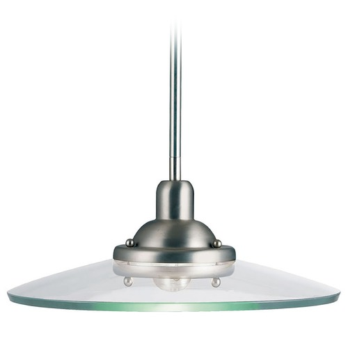 Kichler Lighting Kichler Mini-Pendant with Glass Saucer Shade 2643NI