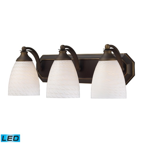 Elk Lighting Elk Lighting Bath and Spa Aged Bronze LED Bathroom Light 570-3B-WS-LED