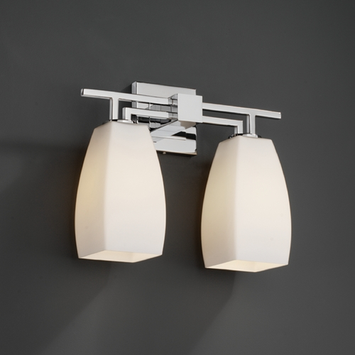 Justice Design Group Justice Design Group Fusion Collection Bathroom Light FSN-8702-65-OPAL-CROM