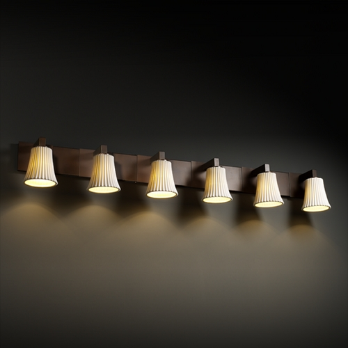 Justice Design Group Justice Design Group Limoges Collection Bathroom Light POR-8926-20-PLET-DBRZ
