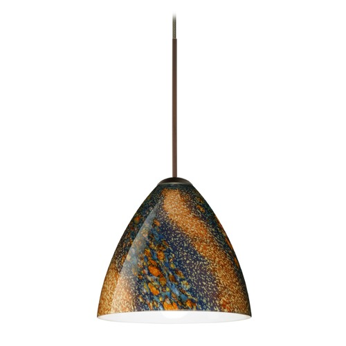 Besa Lighting Besa Lighting Mia Bronze LED Mini-Pendant Light with Bell Shade 1XT-1779CE-LED-BR