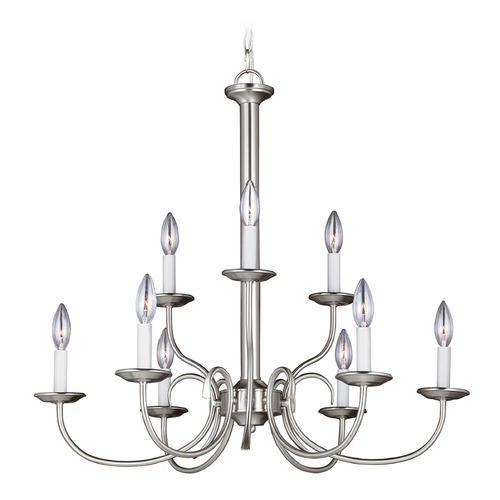 Sea Gull Lighting Sea Gull Lighting Holman Brushed Nickel Chandelier 32810-962