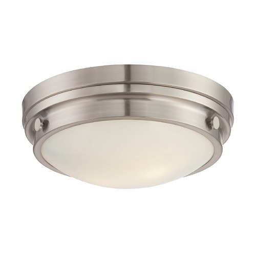 Savoy House Savoy House Lighting Lucerne Satin Nickel Flushmount Light 6-3350-14-SN