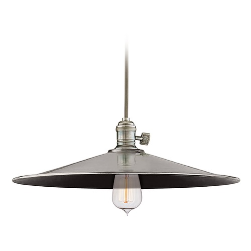 Hudson Valley Lighting Hudson Valley Lighting Heirloom Historic Nickel Pendant Light with Coolie Shade 8002-HN-ML1