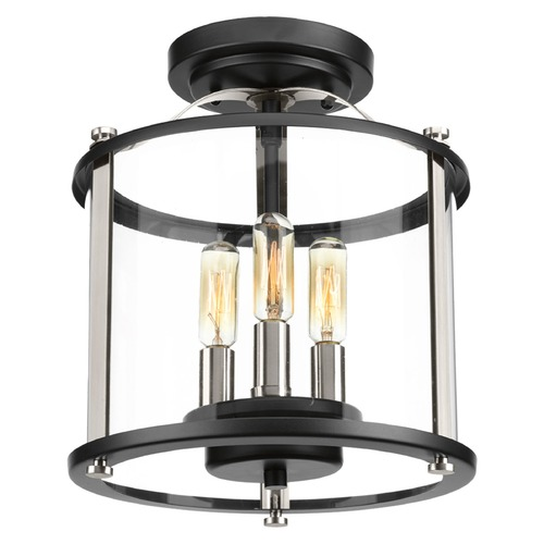 Progress Lighting Progress Lighting Squire Black Close To Ceiling Light P550011-031