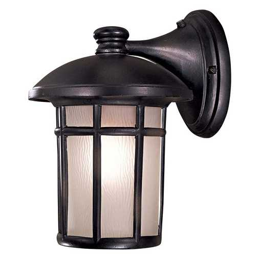 Minka Lavery Outdoor Wall Light with White Glass in Heritage Finish 8252-94-PL