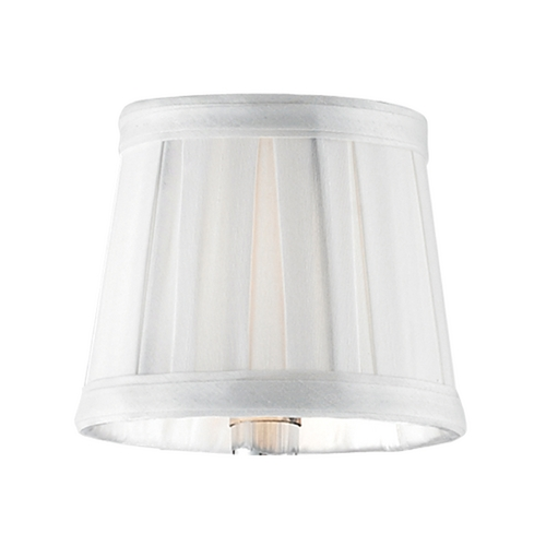 Elk Lighting White Pleated Clip-On Chandelier Lamp Shade 1091