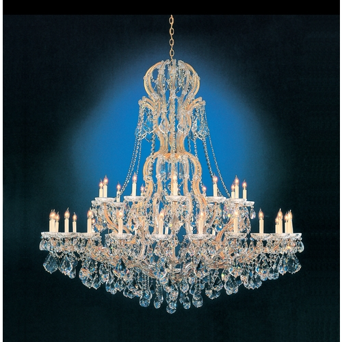 Crystorama Lighting Crystal Chandelier in Gold Finish 4460-GD-CL-MWP