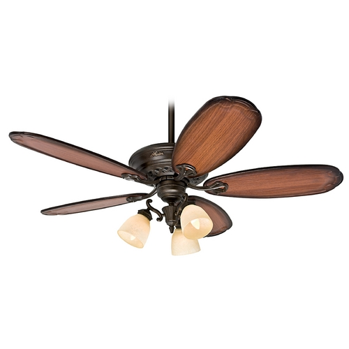 Hunter Fan Company Hunter Fan Company Crown Park Tuscany Gold Ceiling Fan with Light 54015