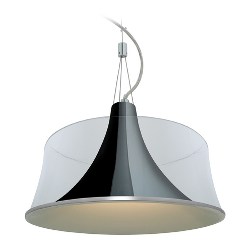 Access Lighting Access Lighting Metalico Chrome Pendant Light with Drum Shade 50145-CH/CLR