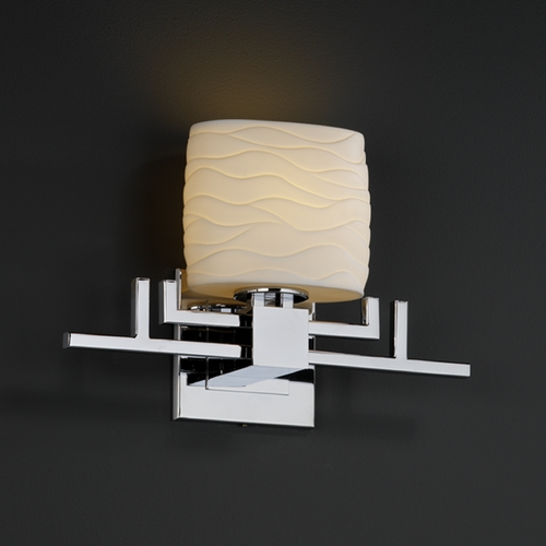 Justice Design Group Justice Design Group Limoges Collection Sconce POR-8711-30-WAVE-CROM