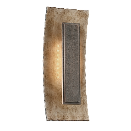 Troy Lighting LED Outdoor Wall Light in Warm Silver / Forged Bronze Finish BL3732
