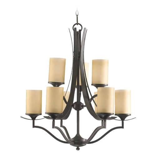 Quorum Lighting Quorum Lighting Atwood Oiled Bronze Chandelier 6096-9-86