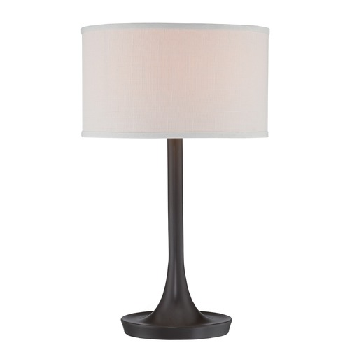 Lite Source Lighting Lite Source Lighting Baha Dark Bronze Table Lamp with Drum Shade LS-22655D/BRZ