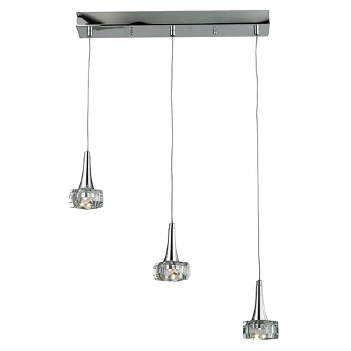 Elk Lighting Elk Lighting Alea Polished Chrome LED Multi-Light Pendant 17166/3