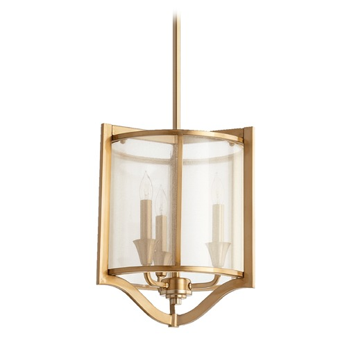 Quorum Lighting Quorum Lighting Highline Aged Brass Pendant Light 682-3-80