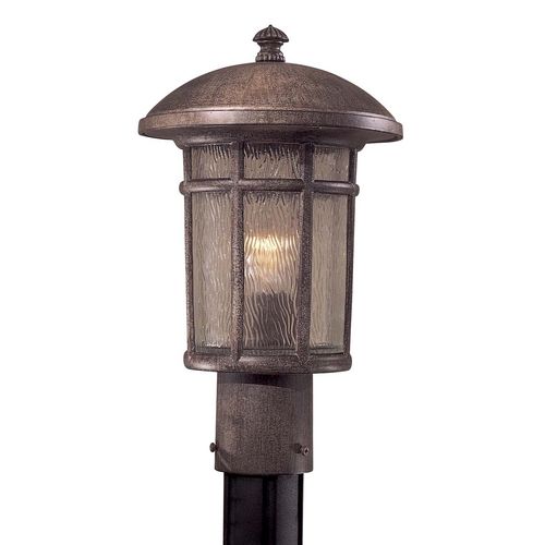 Minka Lavery Post Light with Clear Glass in Vintage Rust Finish 8256-61