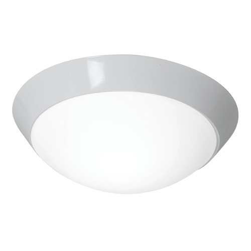 Access Lighting Modern Flushmount Light with White Glass in White Finish 20626GU-WH/OPL
