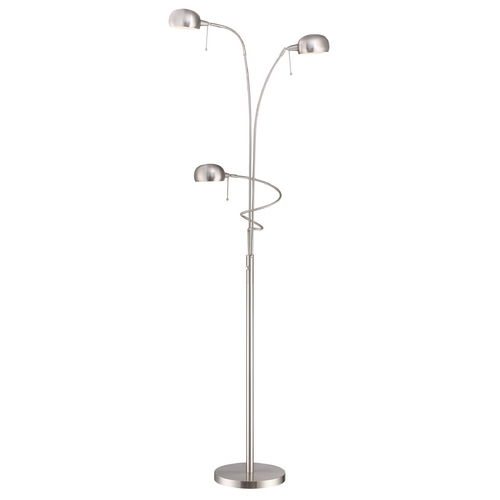 Lite Source Lighting Lite Source Lighting Denzel Polished Steel Floor Lamp LS-82100PS