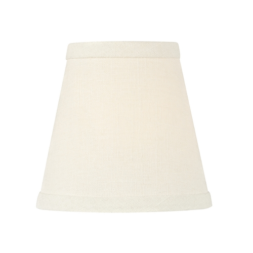 Design Classics Lighting White Linen Conical Lamp Shade with Clip-On Assembly SH9562